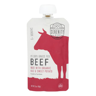 Serenity Kids Llc - Pouch Beef Kale S Pot - Case Of 6 - 3.5 Oz