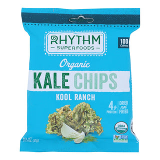 Rhythm Superfoods - Organic Kale Chips - Kool Ranch - Case Of 8 - 0.75 Oz.