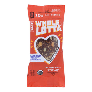 Clif Bar - Whole Lotta Roasted Peanut Chocolate Bar - Case Of 12 - 1.98 Oz.