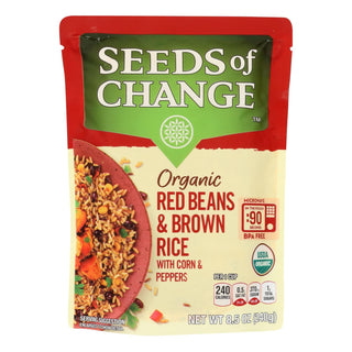 Seeds Of Change - Rice Red Beans Brown - Case Of 12 - 8.5 Oz