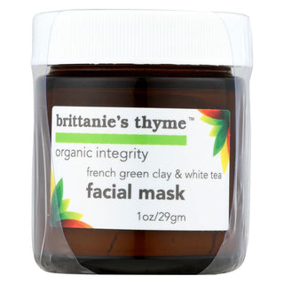 Brittanie's Thyme - Facial Mask - French Green Clay And White Tea - 1 Oz.