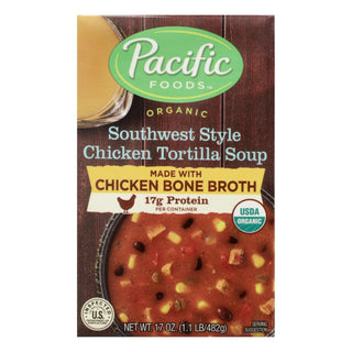 Pacific Natural Foods - Soup Chicken Tortilla - Case Of 12 - 17 Oz