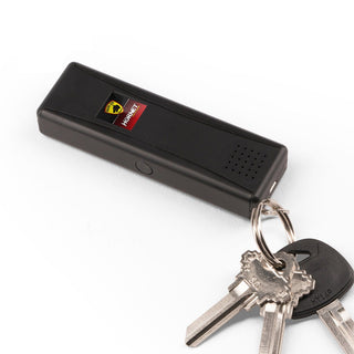 Guard Dog LED Stun Gun Keychain 120dB Alarm - Recharge Black
