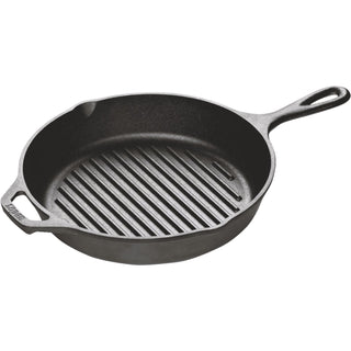 Lodge L8GP3 10.25 Inch Round Cast Iron Grill Pan