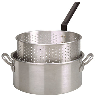 King Kooker #KK2-10 Qt. Alum Fry Pan-Basket -2 Helper Handle