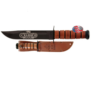 Ka-Bar Army 120th Anniversary Fixed 7 in Black Blade Leather