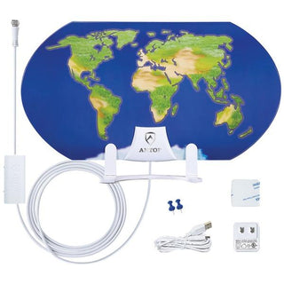 World Map AT-122B Indoor HDTV Antenna