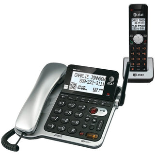 AT&T CL84102 Corded-Cordless Phone System with Answer, Caller ID-Call Waiting