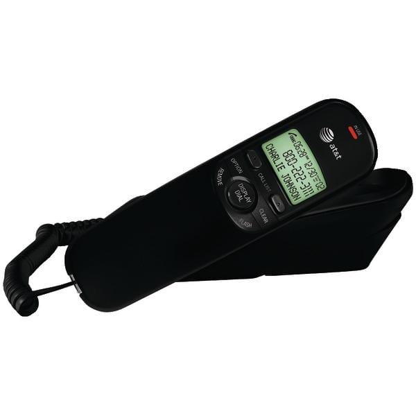 Corded Trimline(R) Phone with Caller ID (Black)
