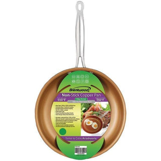 "Brentwood Appliances BFP-320C Nonstick Induction Copper Fry Pan (8"")"