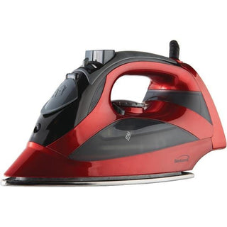 Steam Iron with Auto Shutoff & Retractable Cord (Red)