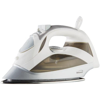 Steam Iron with Auto Shutoff & Retractable Cord (White)