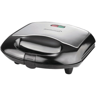 Nonstick Compact Dual Sandwich Maker (Black)