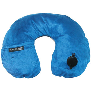 EZ Inflate Fleece Neck Rest (Navy)