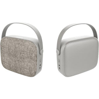 Portable Bluetooth(R) Retro-Design Fabric Speaker (Sand)