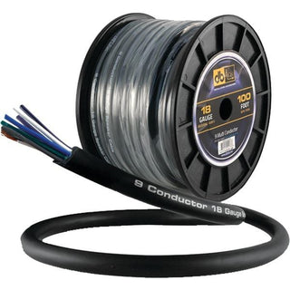 18-Gauge 9-Multiconductor Speaker Wire with Remote Trigger, 100ft