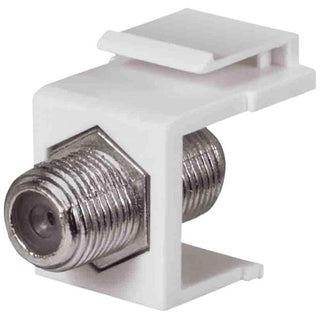 1 GHz F-Connector Keystone Insert (White)