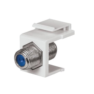 3 GHz F-Connector Keystone Insert (White)