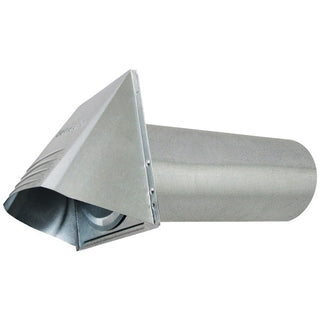 "4"" Wide-Mouth Galvanized Vent Hood"
