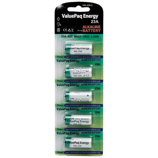 ValuePaq Energy 23A Alkaline Cylindrical Batteries, 5 pk