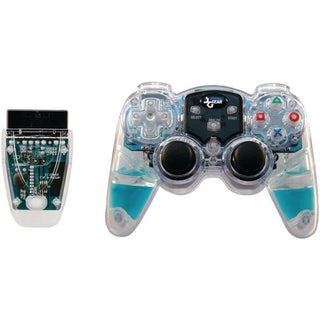dreamGEAR DGPN-524 Lava Glow Wireless Controller for PlayStation2 (Blue)