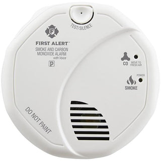 First Alert 1039824 Combination Smoke & Carbon Monoxide Alarm with Voice & Location
