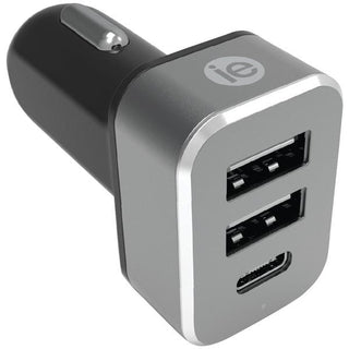 4.1-Amp Car Charger, 2 USB-A & 1 USB-C(TM)