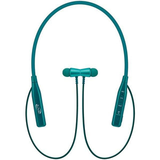Bluetooth(R) In-Ear Earbuds with Microphone and Bendable Neck (Teal)