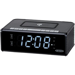 Dual Alarm Clock Radio with Qi(R) Charging