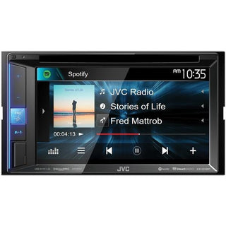 "JVC Mobile KW-V250BT 6.2"" Double-DIN In-Dash DVD Receiver with Bluetooth & SiriusXM Ready"