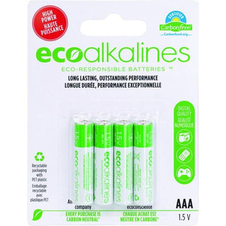 AAA EcoAlkaline(TM) Batteries (4 pk)