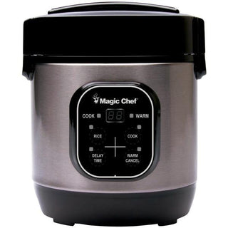 Magic Chef MCSRC03ST 3-Cup Stainless Steel Rice Cooker