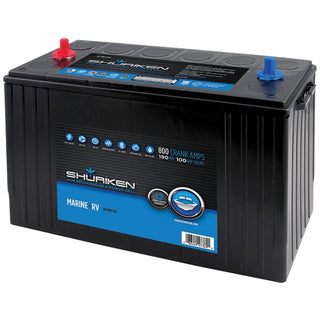 800 Crank Amps 100Ah AGM 12-Volt Marine Battery