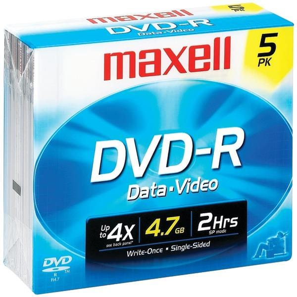 4.7GB 120-Minute DVD-Rs (5 pk)