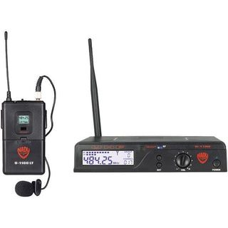 UHF 100-Channel Wireless Lavalier Microphone System