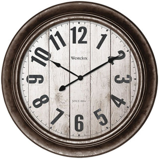 "15.5"" Wall Clock with Antique Bronze Finish"