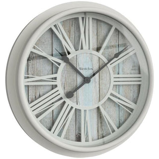 15.5-Inch Antique White Clock