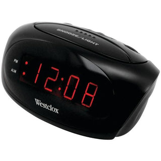 Super-Loud LED Electric Alarm Clock (Black)