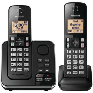 2-Handset Expandable Cordless Phone with Answering System