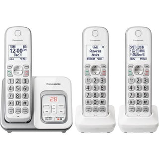 Expandable Cordless Phone with Call Block and Answering Machine (3 Handsets)