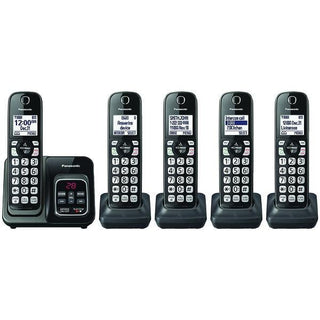Expandable Cordless Phone with Call Block & Answering Machine (5 Handsets)