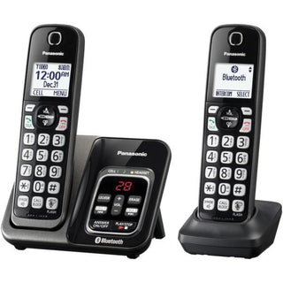 Link2Cell(R) Bluetooth(R) Cordless Phone with Answering Machine and Voice Assist, 2 Handsets