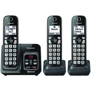 Link2Cell(R) Bluetooth(R) Cordless Phone with Voice Assist & Answering Machine (3 Handsets)