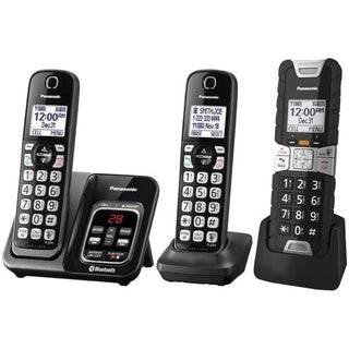 Link2Cell(R) Bluetooth(R) Cordless Phone with Voice Assist and Answering Machine (2 Handsets, 1 Rugged Handset)