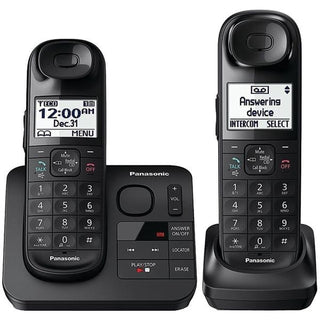Expandable Cordless Phone System with Comfort Shoulder Grip (2-handset system)