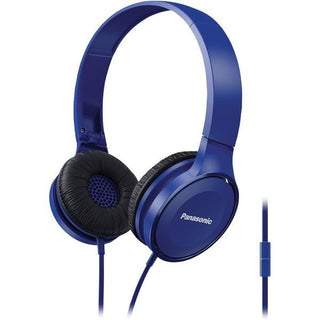 Lightweight On-Ear Headphones with Microphone (Blue)