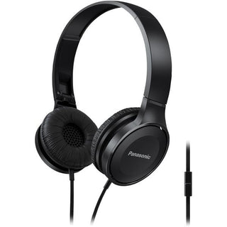Lightweight On-Ear Headphones with Microphone (Black)