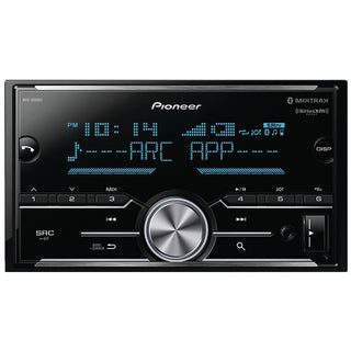 Double-DIN In-Dash Digital Media Receiver with Bluetooth(R), SiriusXM(R) Ready & 3 Pairs of High-Volt RCA Preamp Outputs