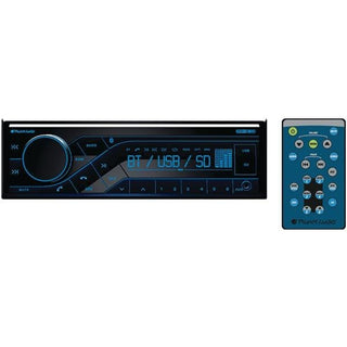Planet Audio P370MB Single-DIN In-Dash Mechless AM-FM Receiver with Bluetooth