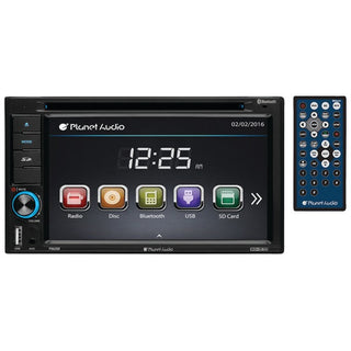 "Planet Audio P9628B 6.2"" Double-DIN In-Dash Touchscreen DVD Receiver with Bluetooth"